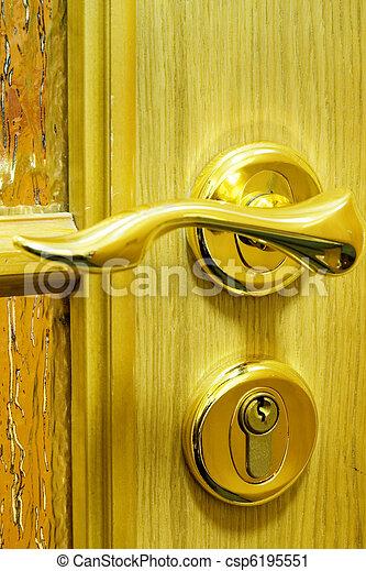 Close-up of a door handle - csp6195551