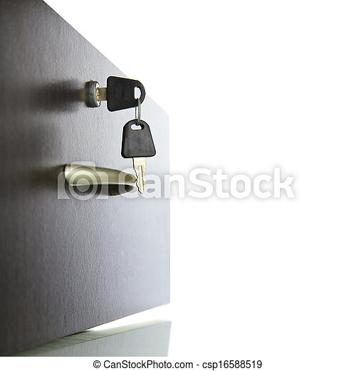 Close-up of a drawer with keys in the open - csp16588519