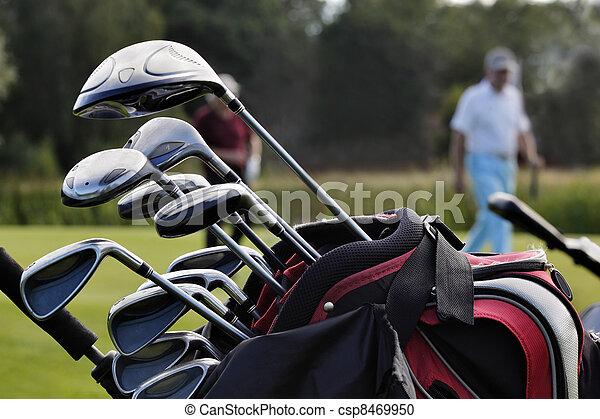 close-up of a golf bag - csp8469950
