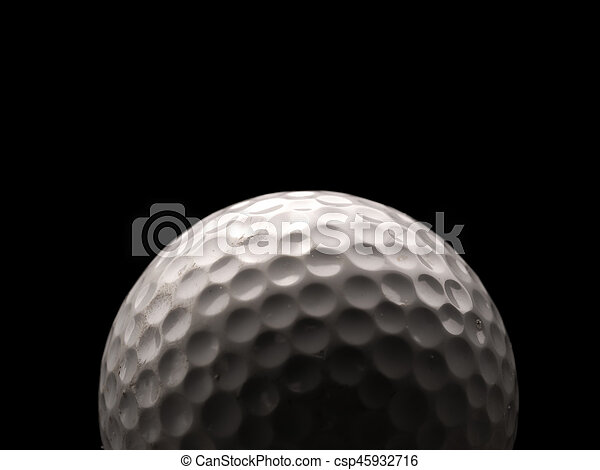 Close up of a golf ball - csp45932716