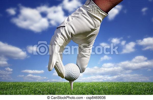 Close-up of a golf ball - csp8469936