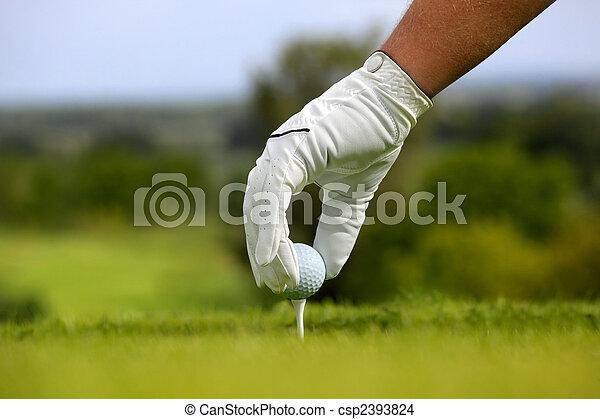 Close-up of a golf ball - csp2393824