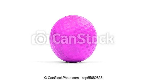 Close-up of a golf ball - csp65682836