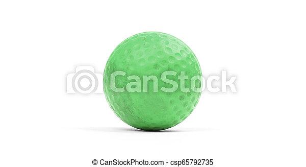 Close-up of a golf ball - csp65792735