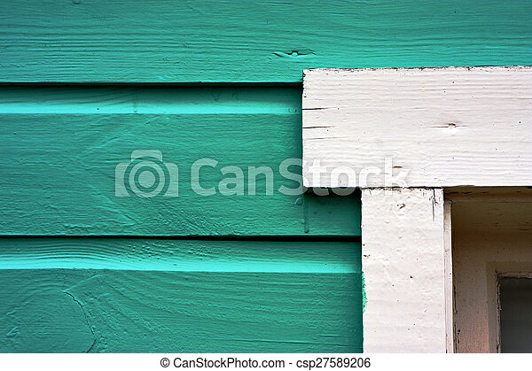 close up of a green door - csp27589206