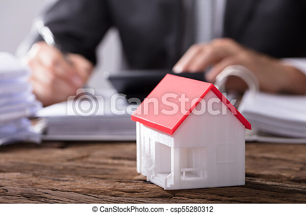 Close-up Of A House Model - csp55280312