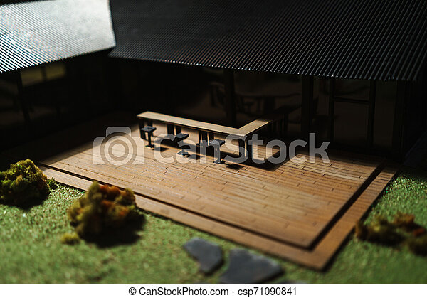 Close up of a house model - csp71090841