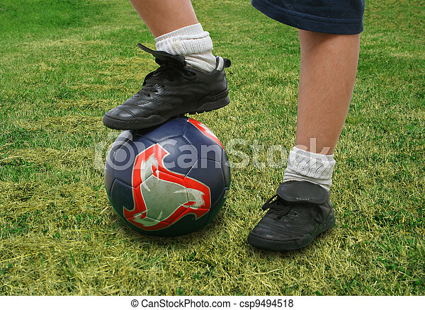 Close up of a soccer player - csp9494518