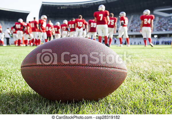 Close up of an american football - csp28319182