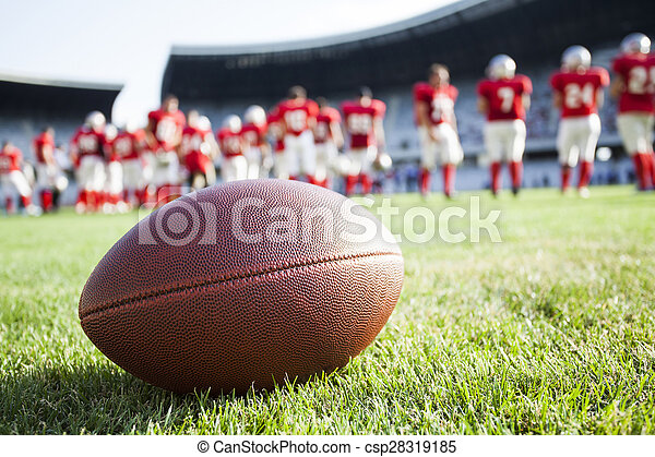 Close up of an american football - csp28319185