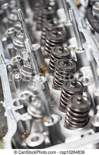 Close-up of automobile cylinder head - csp10264836