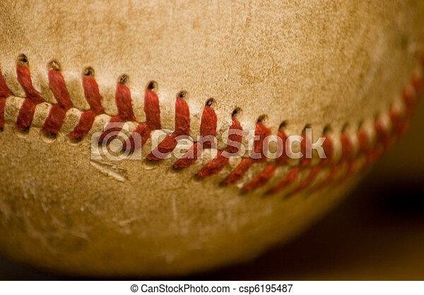 Close-up of baseball ball  - csp6195487