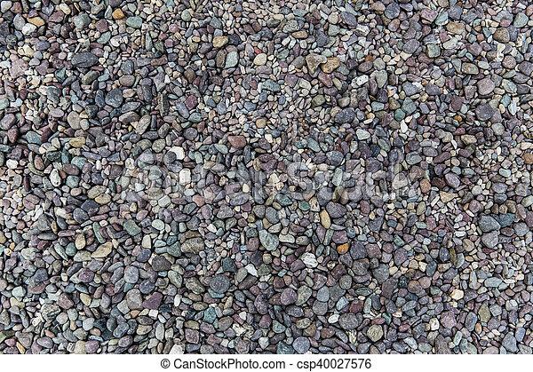 close up of beach pebble stones - csp40027576