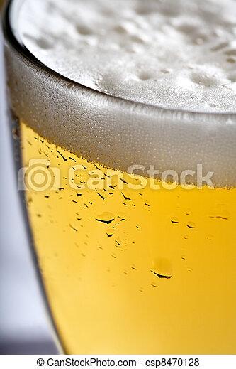 close up of beer - csp8470128
