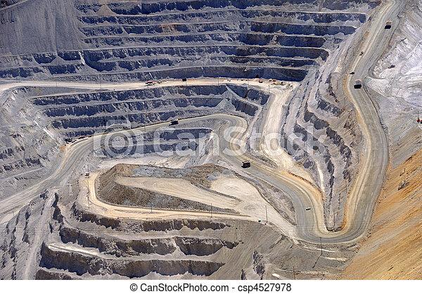 Close-up of Bingham Kennecott Copper Mine Open Pit Excavation - csp4527978