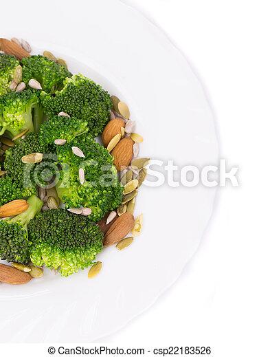 Close up of broccoli salad. - csp22183526