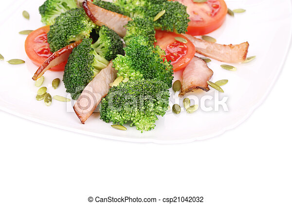 Close up of broccoli salad. - csp21042032