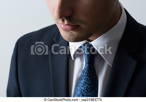 Close-up of business man - csp31963774