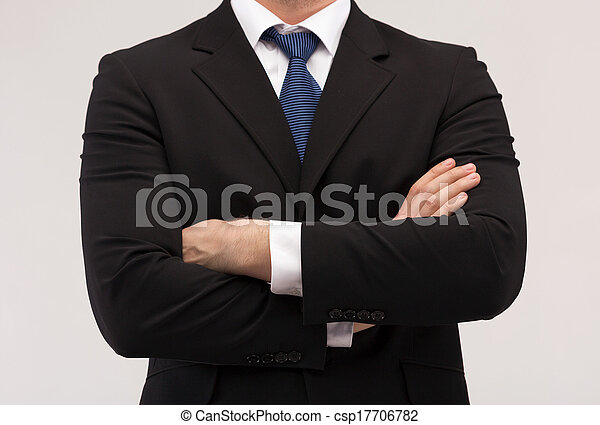 close up of businessman in suit and tie - csp17706782