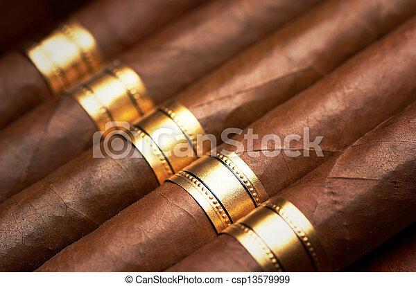 Close up of cigars - csp13579999