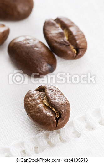 close-up of coffee beans - csp4103518