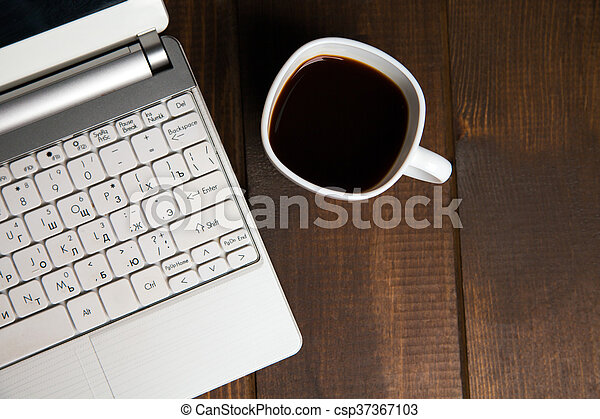 Close-up of coffee in cup - csp37367103
