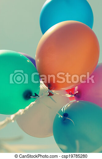 close up of colorful baloons - csp19785280