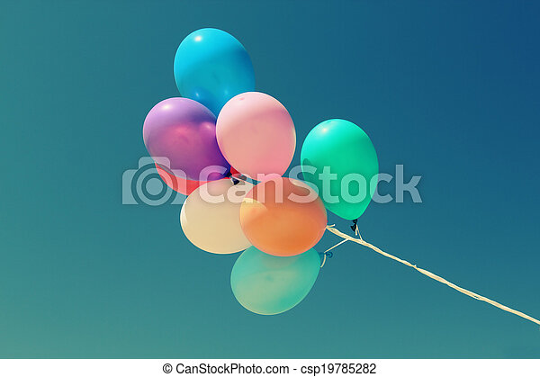 close up of colorful baloons - csp19785282