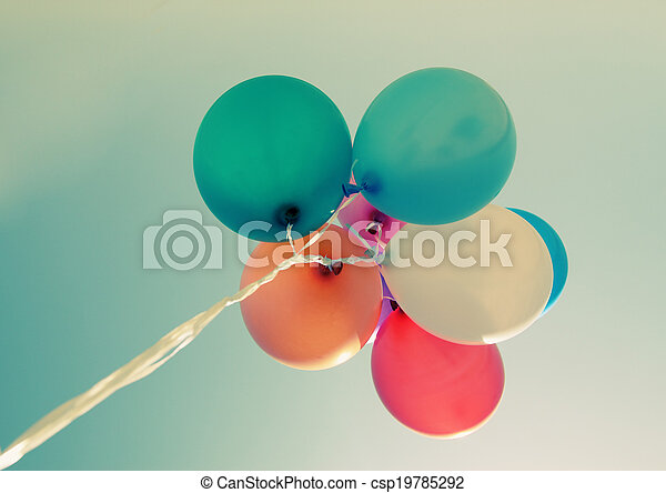 close up of colorful baloons - csp19785292