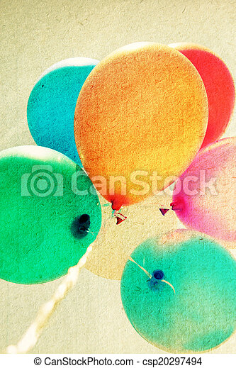 close up of colorful baloons - csp20297494
