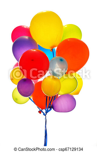 Close up of colorful baloons - csp67129134