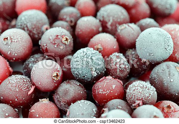 Close up of cranberries - csp13462423