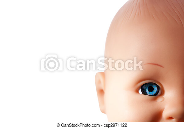close up of doll?s eye - csp2971122