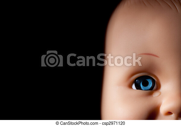 close up of doll?s eye - csp2971120