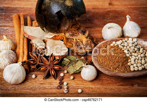 close up of dry asian healthy spice herb - csp49762171