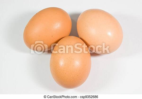 close up of egg on white background - csp9352686