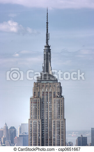 Close up of Empire State Building, New York City - csp0651667