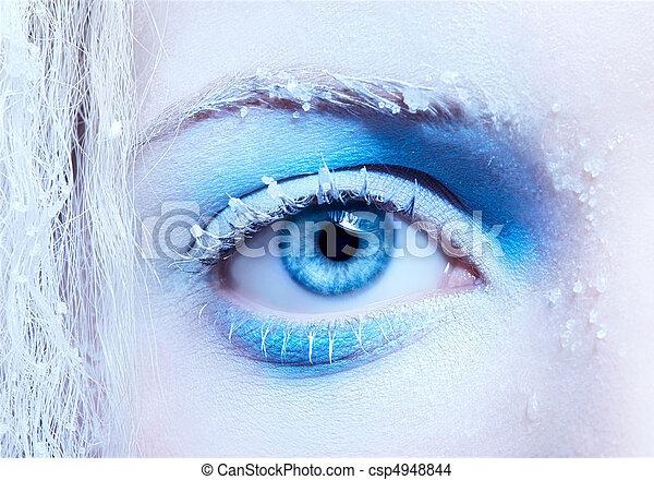 close-up of fantasy make-up - csp4948844