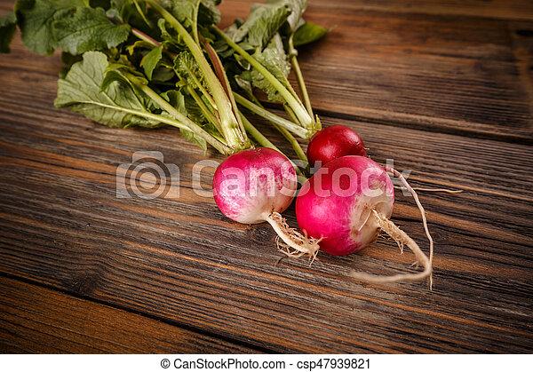 Close up of fresh radishes - csp47939821