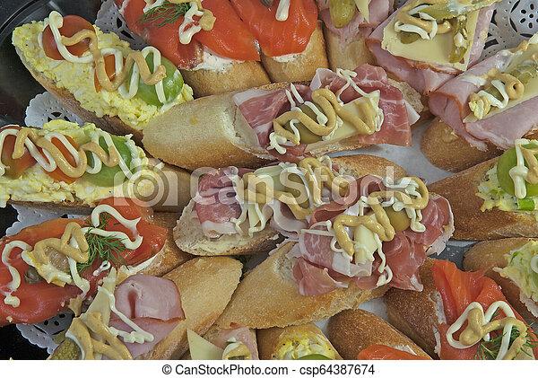 Close-up of fresh Sandwiches - csp64387674