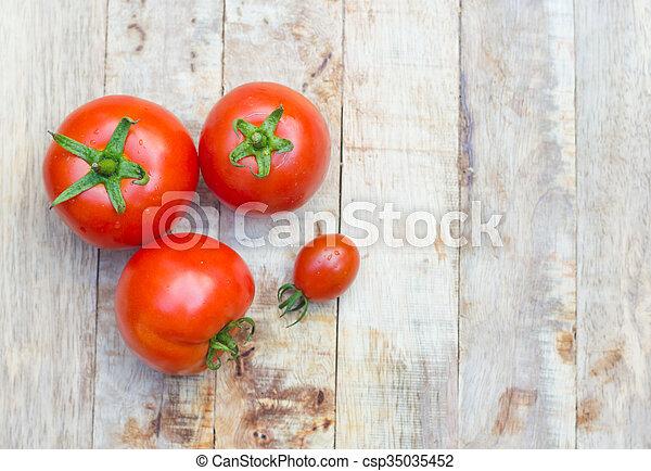 Close-up of fresh tomatoes. - csp35035452