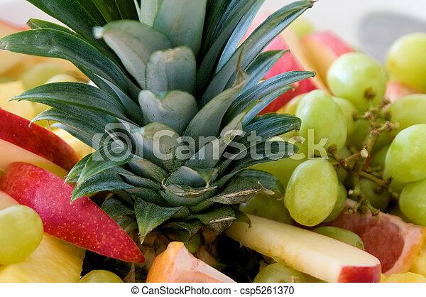 close up of fruit plate - csp5261370