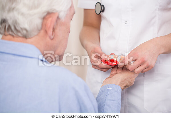 Close-up of giving medicine - csp27419971