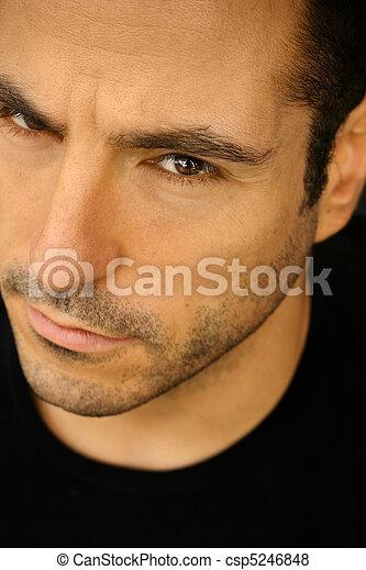 Close up of goodlooking man - csp5246848