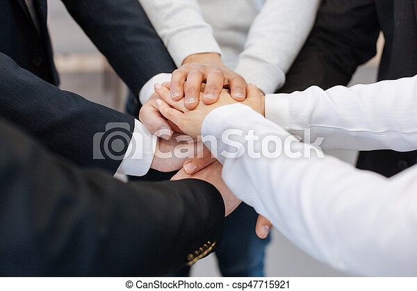 Close up of hands being held together - csp47715921