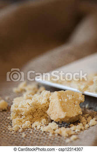 Close up of home baked shortbread biscuit cookies - csp12314307