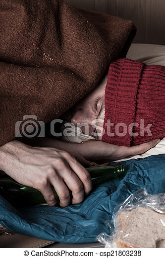 Close-up of man on the street - csp21803238