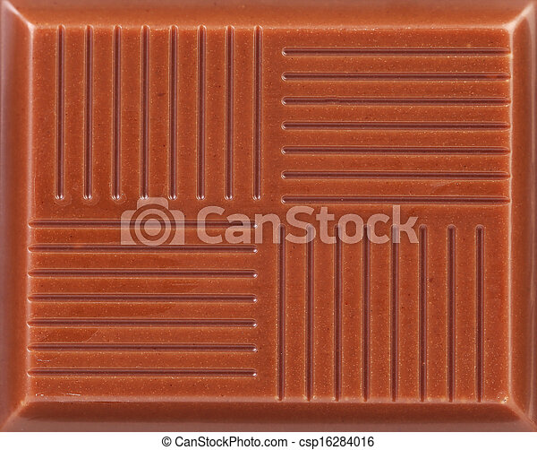 Close up of milk chocolate bar. - csp16284016