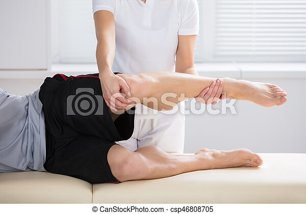 Close-up Of Physiotherapist Giving Exercise - csp46808705