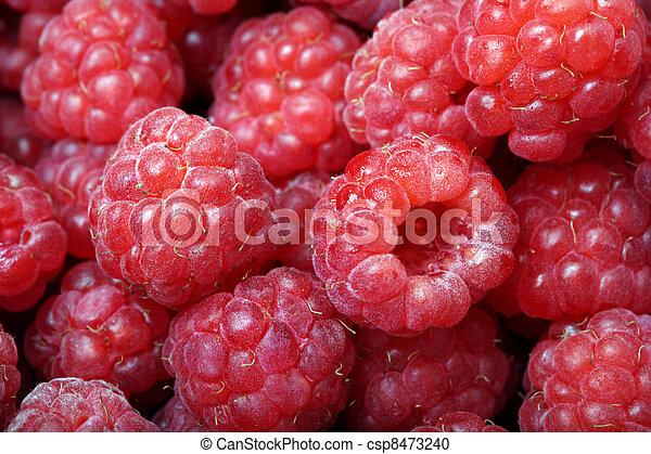 Close-up of ripe raspberries - csp8473240